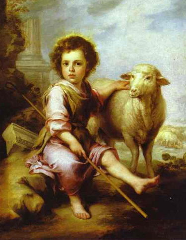 Shepherd Boy Jesus, painting by Bartolome Esteban Murillo (1647-1654)